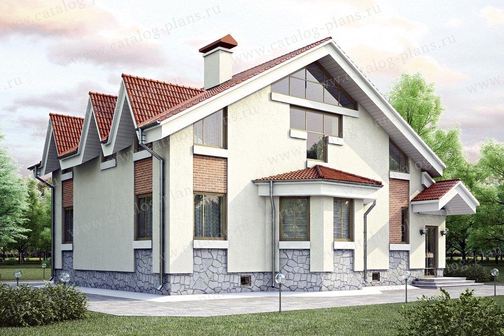 Проект жилой дом #34-86 материал - кирпич, стиль современный