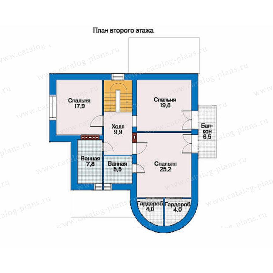 План 2-этажа проекта 34-45