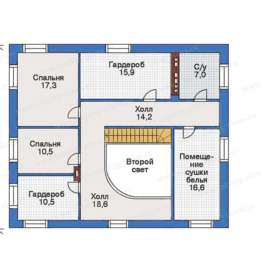 План 3-этажа проекта 34-86