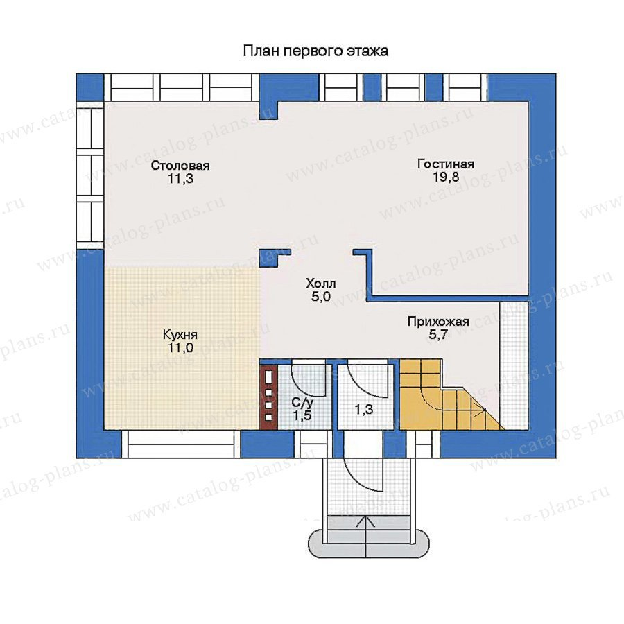 План 1-этажа проекта 34-58