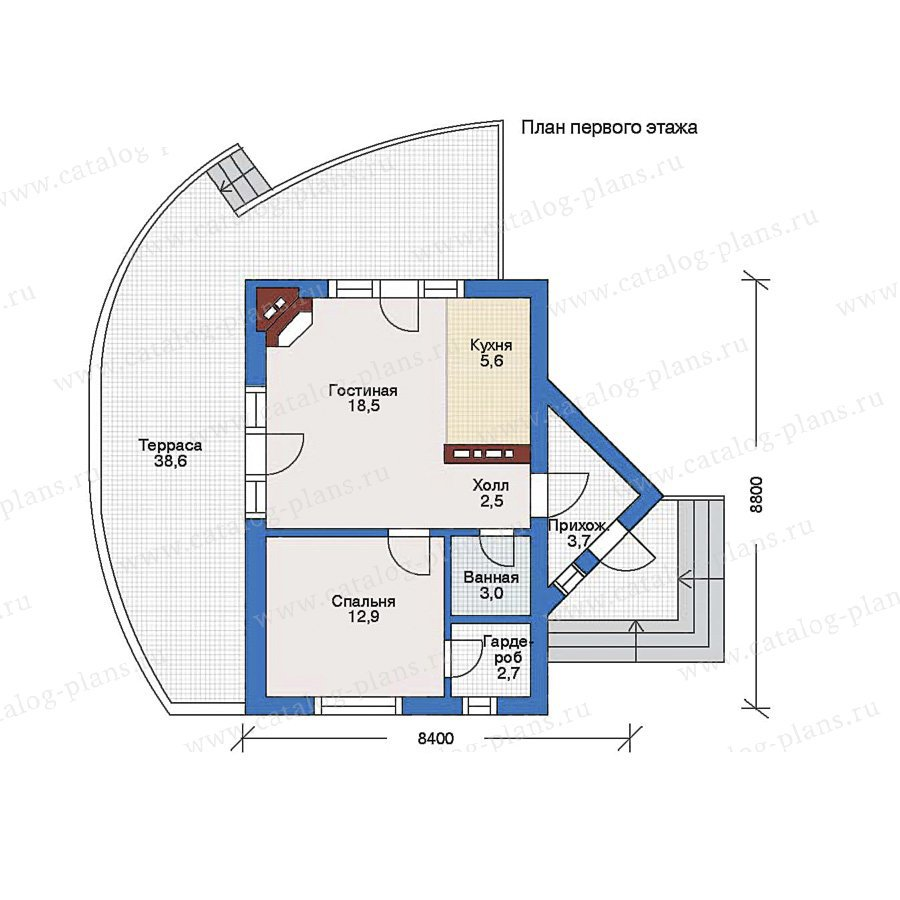 План 1-этажа проекта 34-99