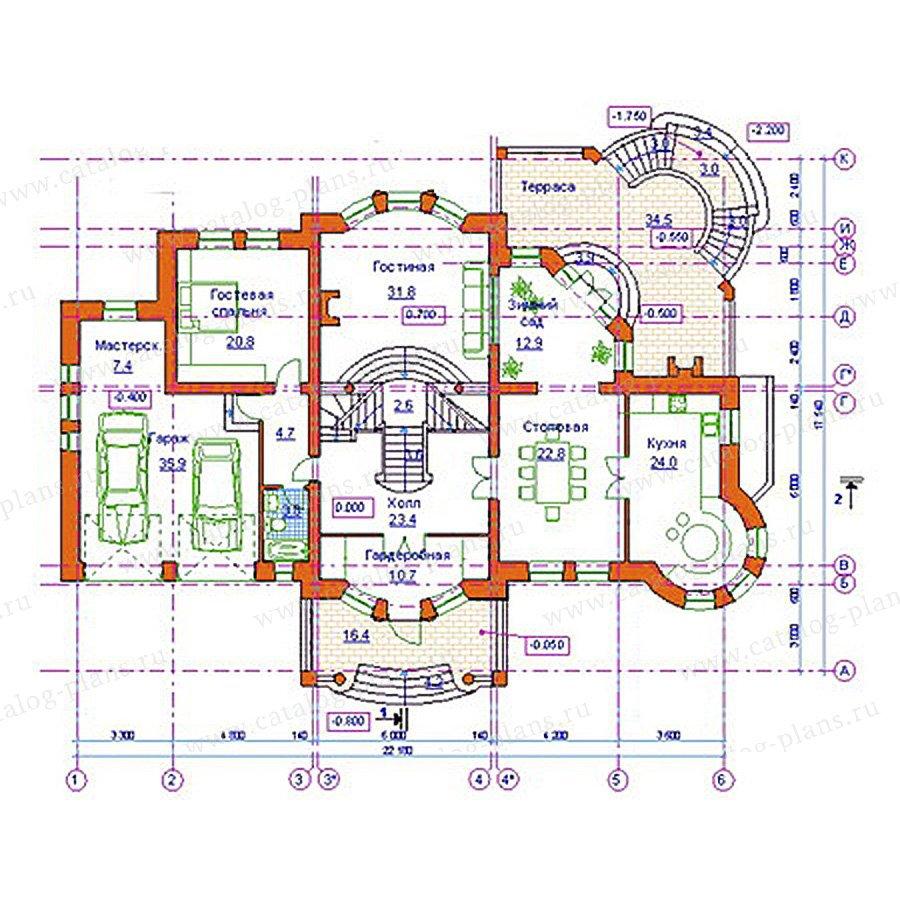 План 2-этажа проекта 34-16