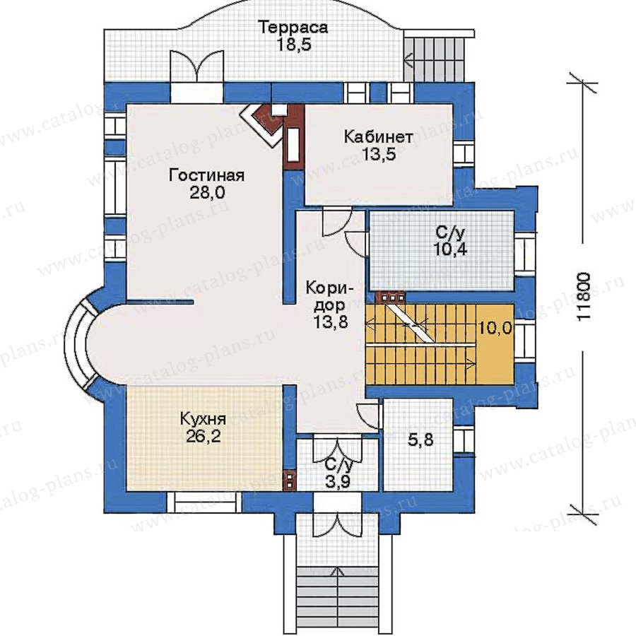 План 2-этажа проекта 34-80