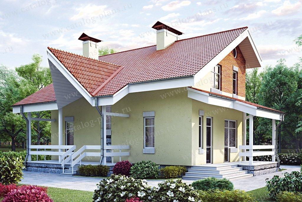 Проект жилой дом #34-94 материал - кирпич, стиль современный