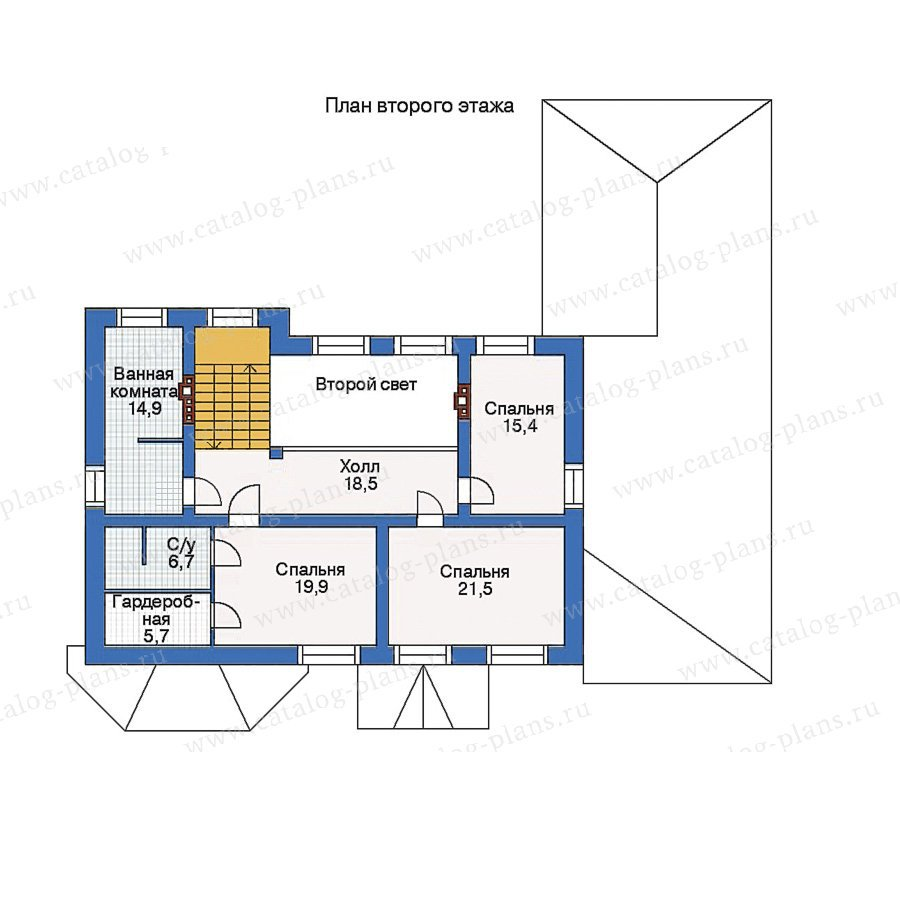 План 2-этажа проекта 34-49