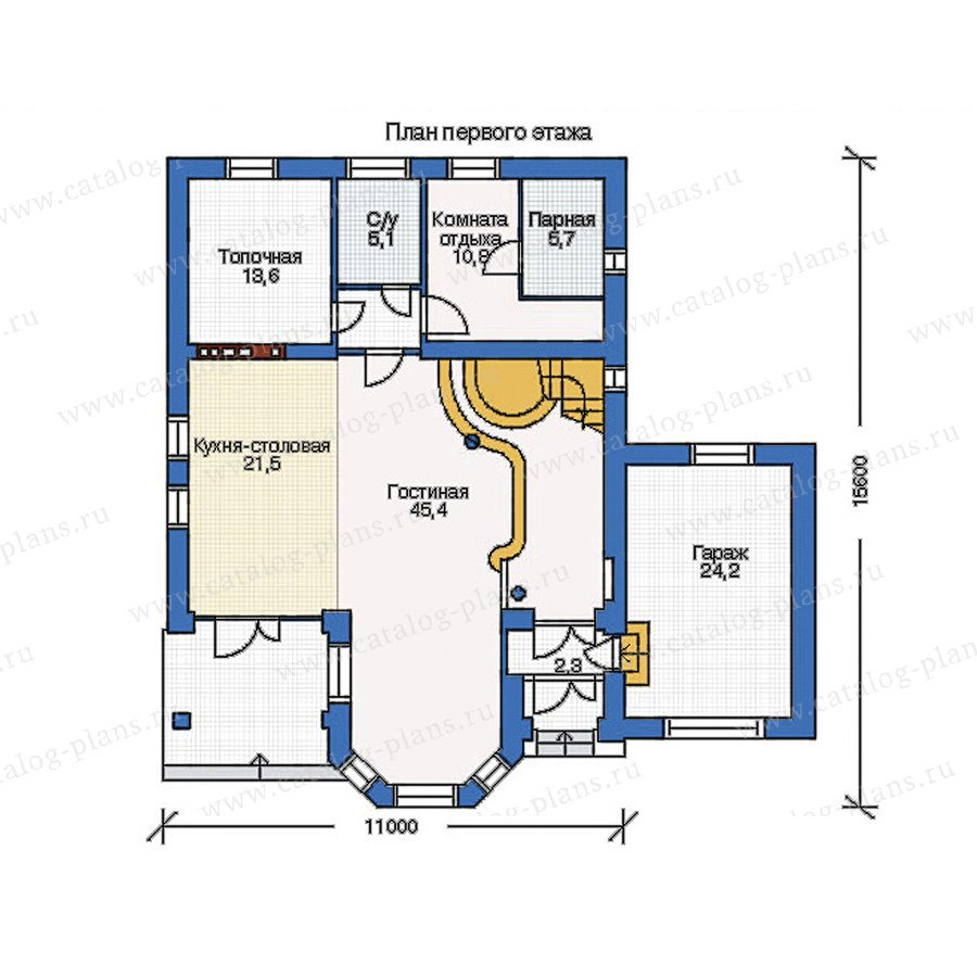 План 1-этажа проекта 34-35