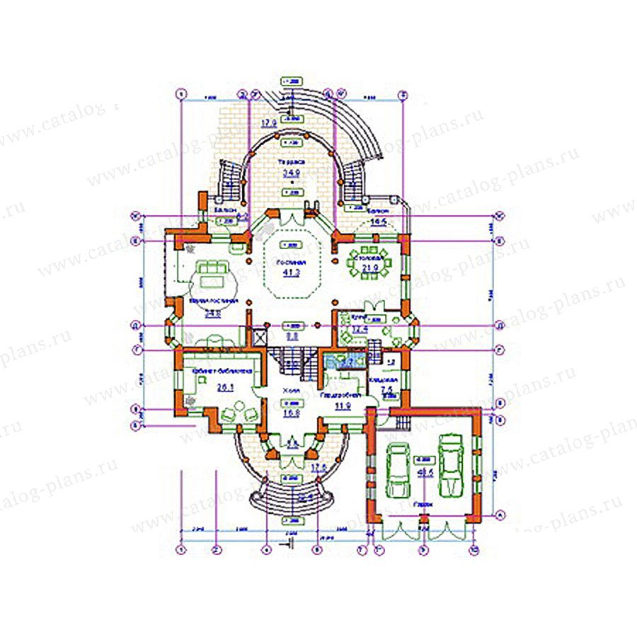 План 2-этажа проекта 34-20