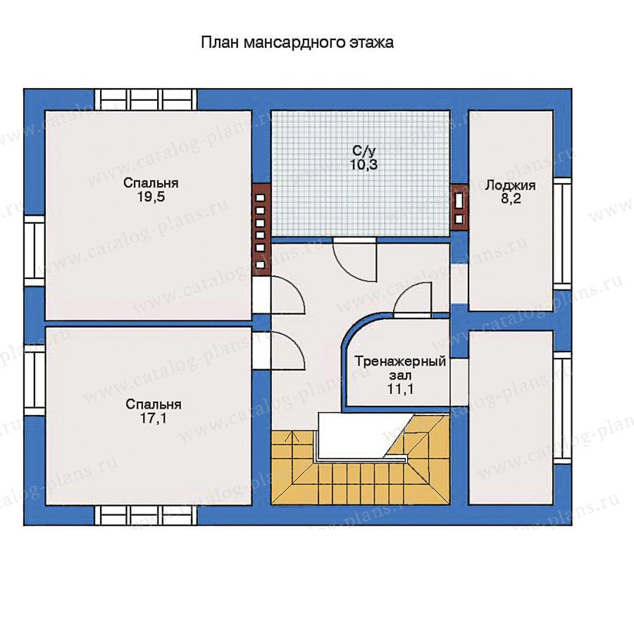 План 2-этажа проекта 34-92