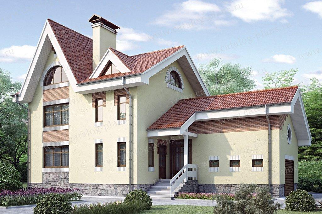 Проект жилой дом #34-81 материал - кирпич, стиль европейский