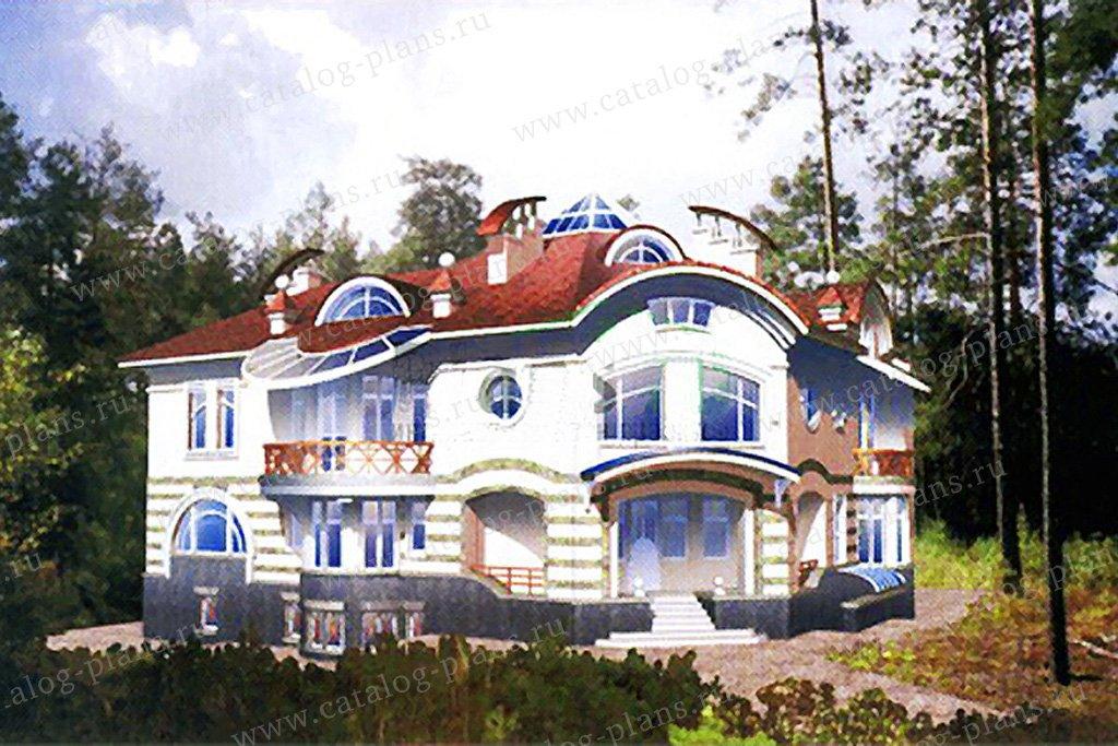 Проект жилой дом #34-18 материал - кирпич, стиль модерн