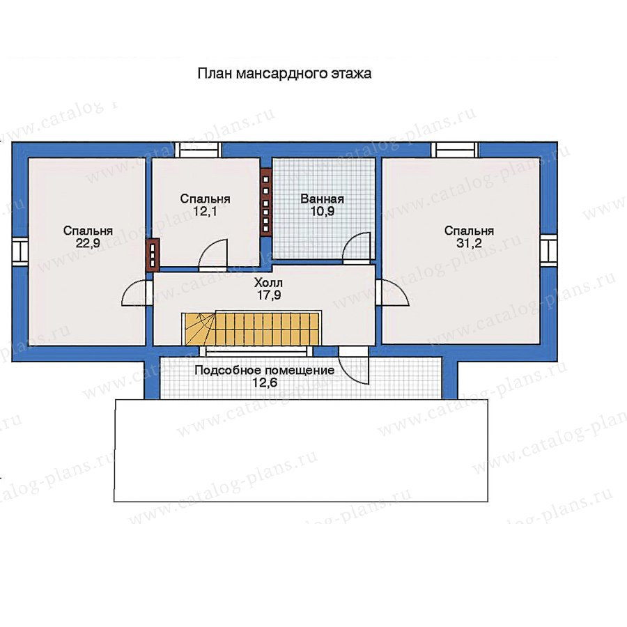 План 2-этажа проекта 34-98