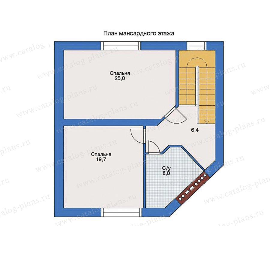 План 2-этажа проекта 34-72