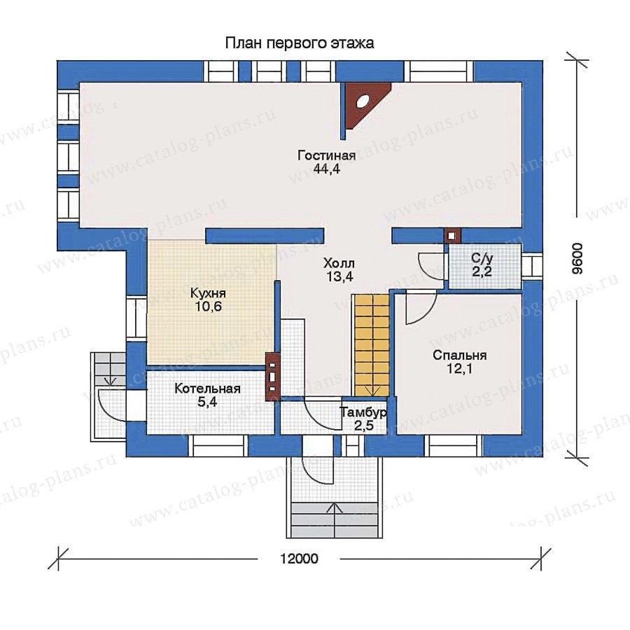 План 1-этажа проекта 34-93