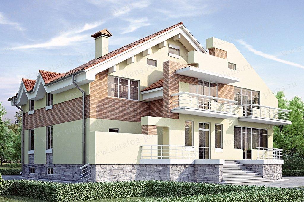 Проект жилой дом #34-90 материал - кирпич, стиль современный