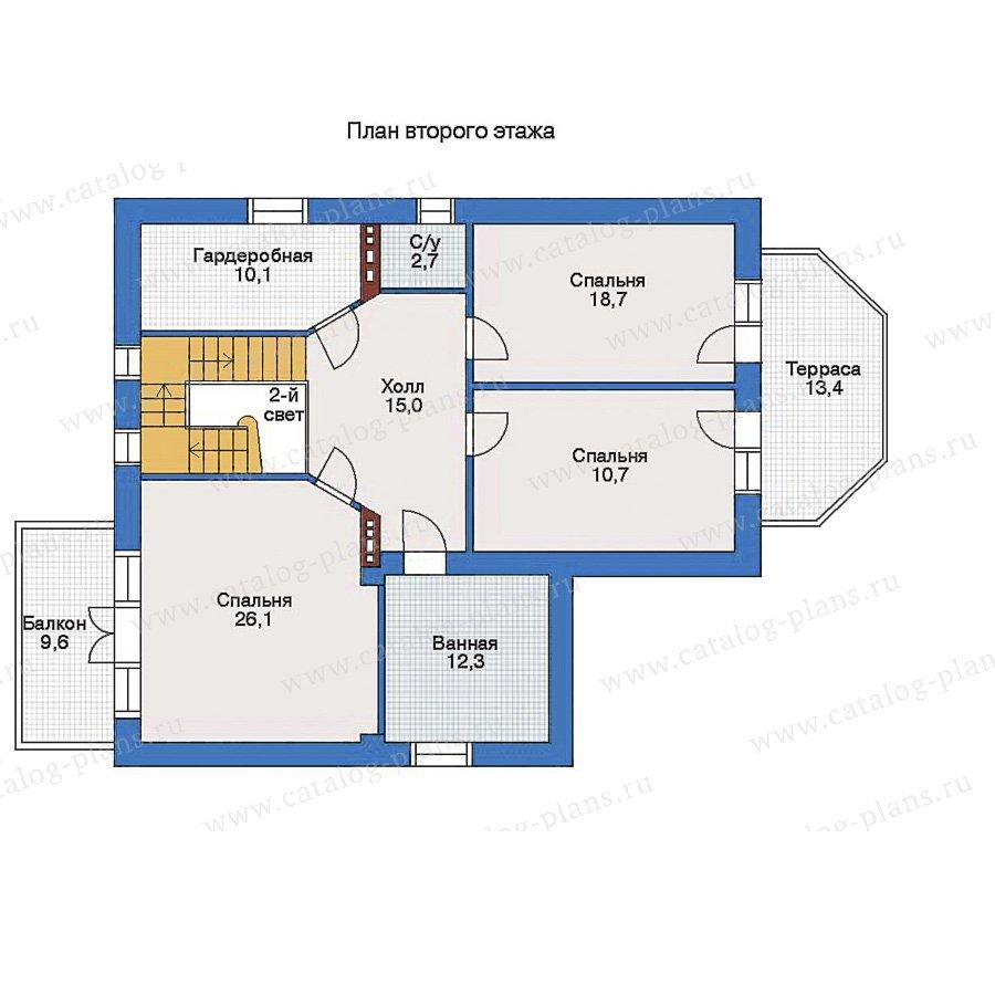План 2-этажа проекта 34-34