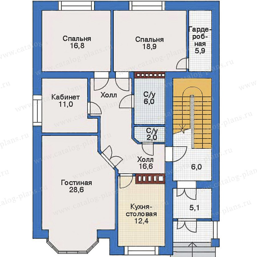План 1-этажа проекта 34-69