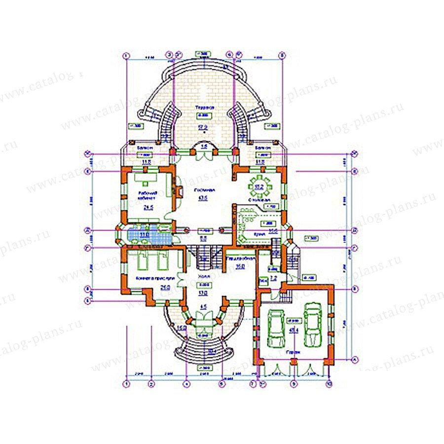План 2-этажа проекта 34-22