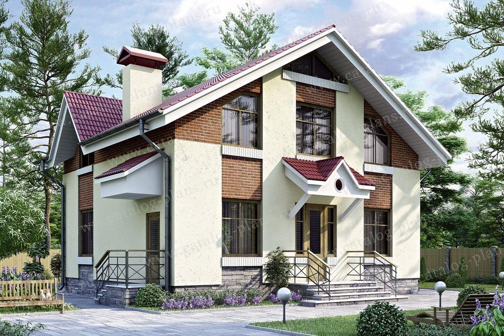 Проект жилой дом #34-64 материал - кирпич, стиль европейский