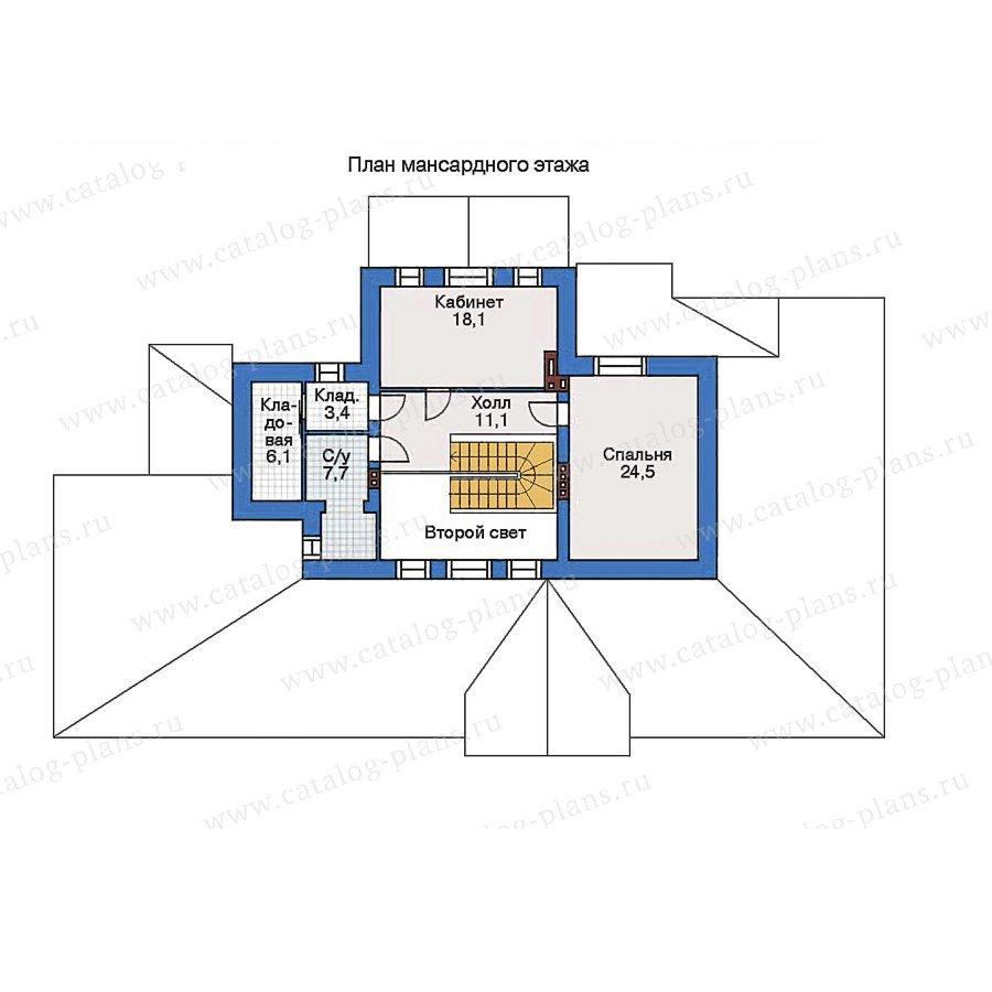 План 2-этажа проекта 34-71