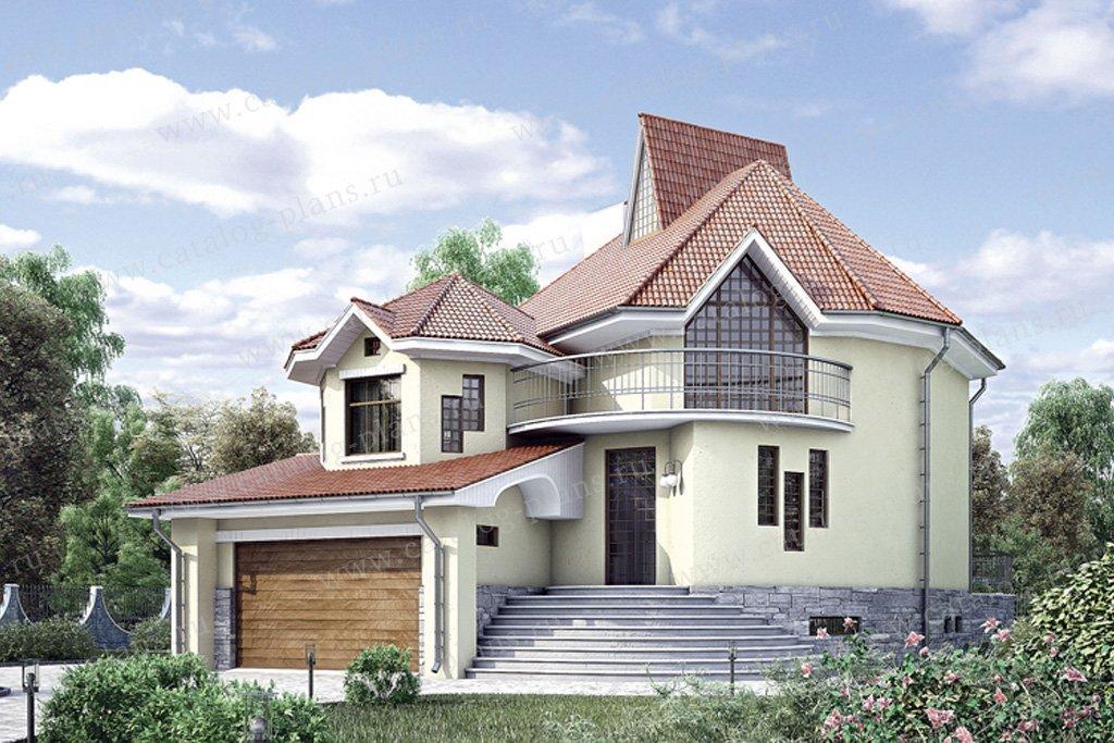 Проект жилой дом #34-37 материал - кирпич, стиль европейский