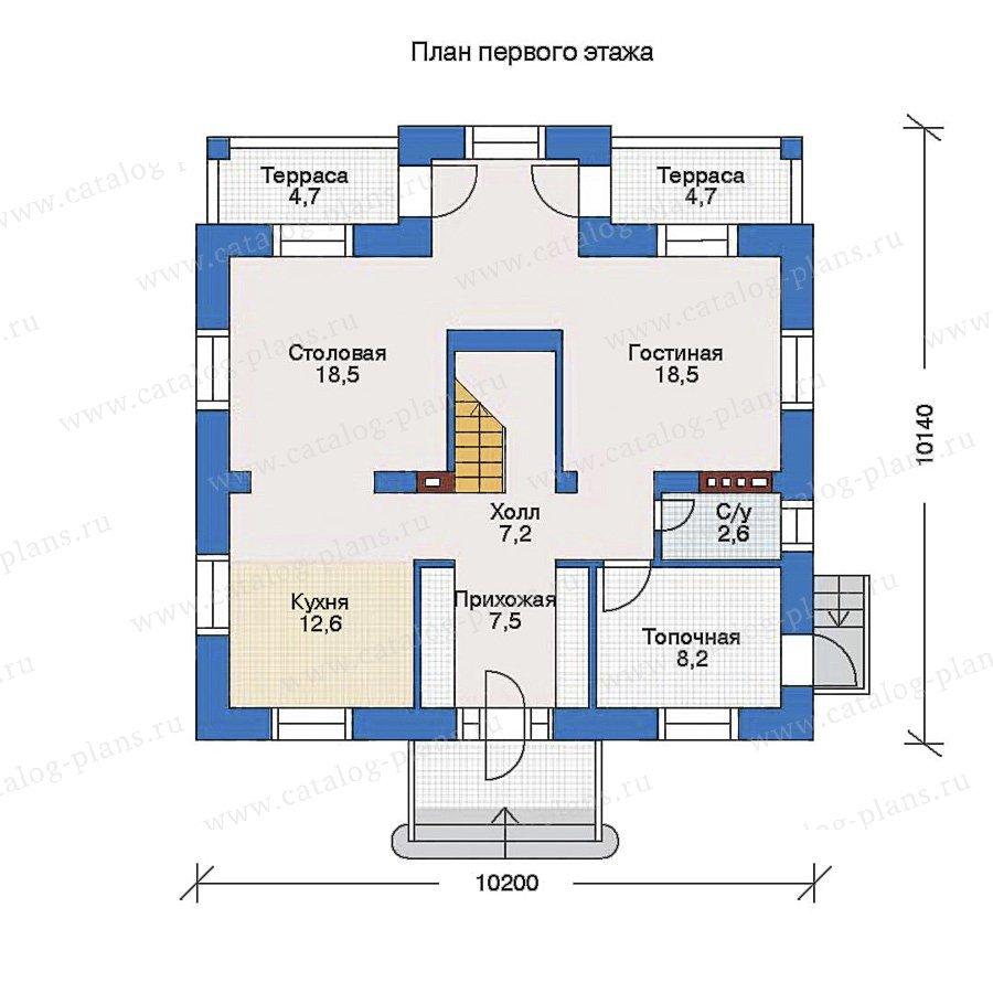 План 1-этажа проекта 34-60