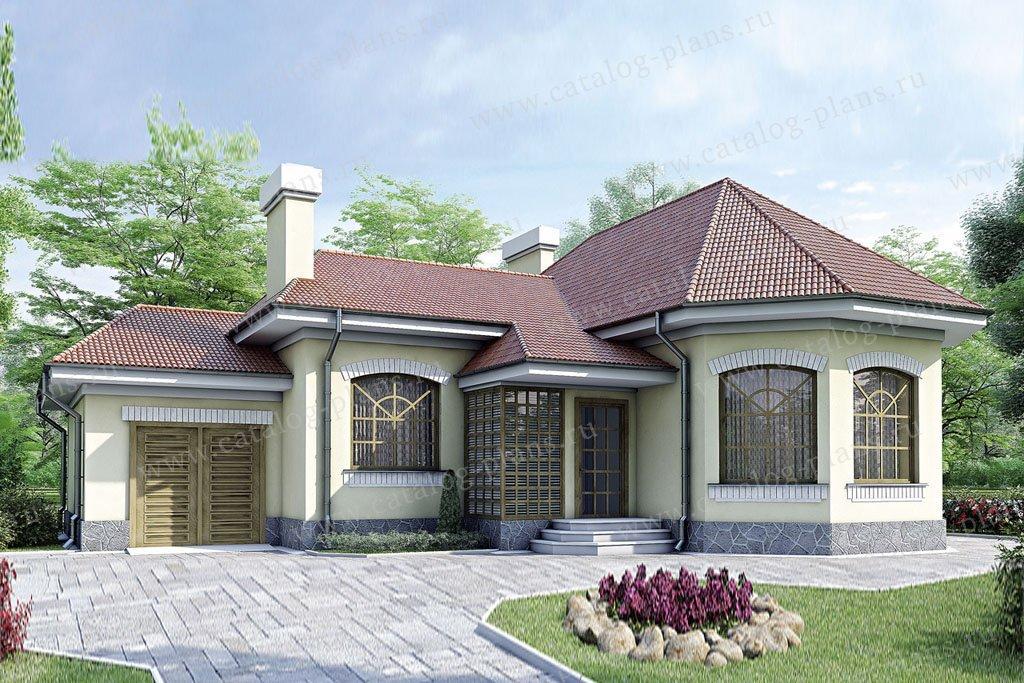 Проект жилой дом #34-74 материал - кирпич, стиль европейский
