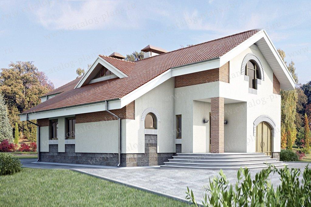 Проект жилой дом #34-98 материал - кирпич, стиль современный