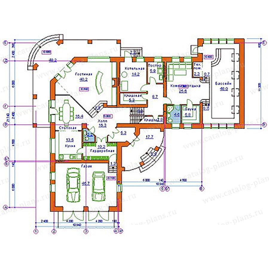 План 1-этажа проекта 34-08