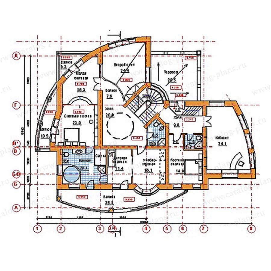 План 3-этажа проекта 34-19