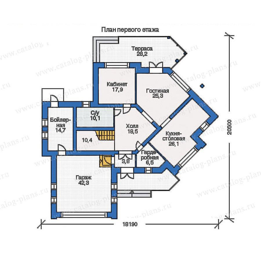 План 1-этажа проекта 34-75