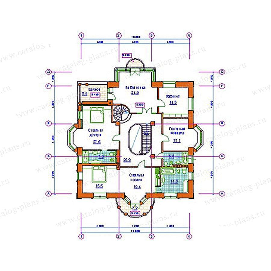 План 2-этажа проекта 34-01