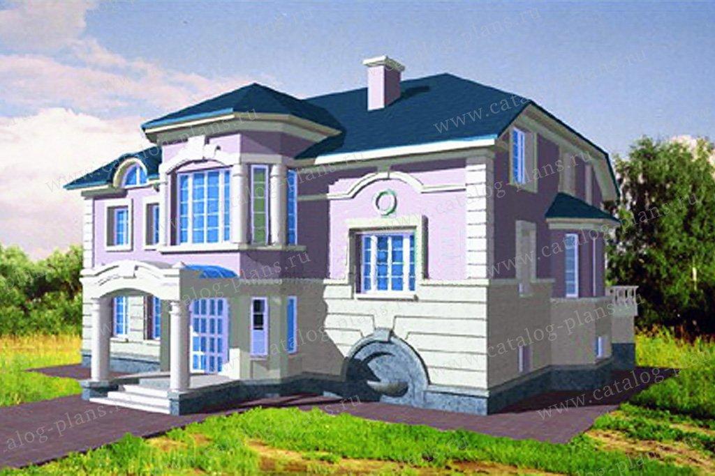 Проект жилой дом #34-11 материал - кирпич, стиль классический