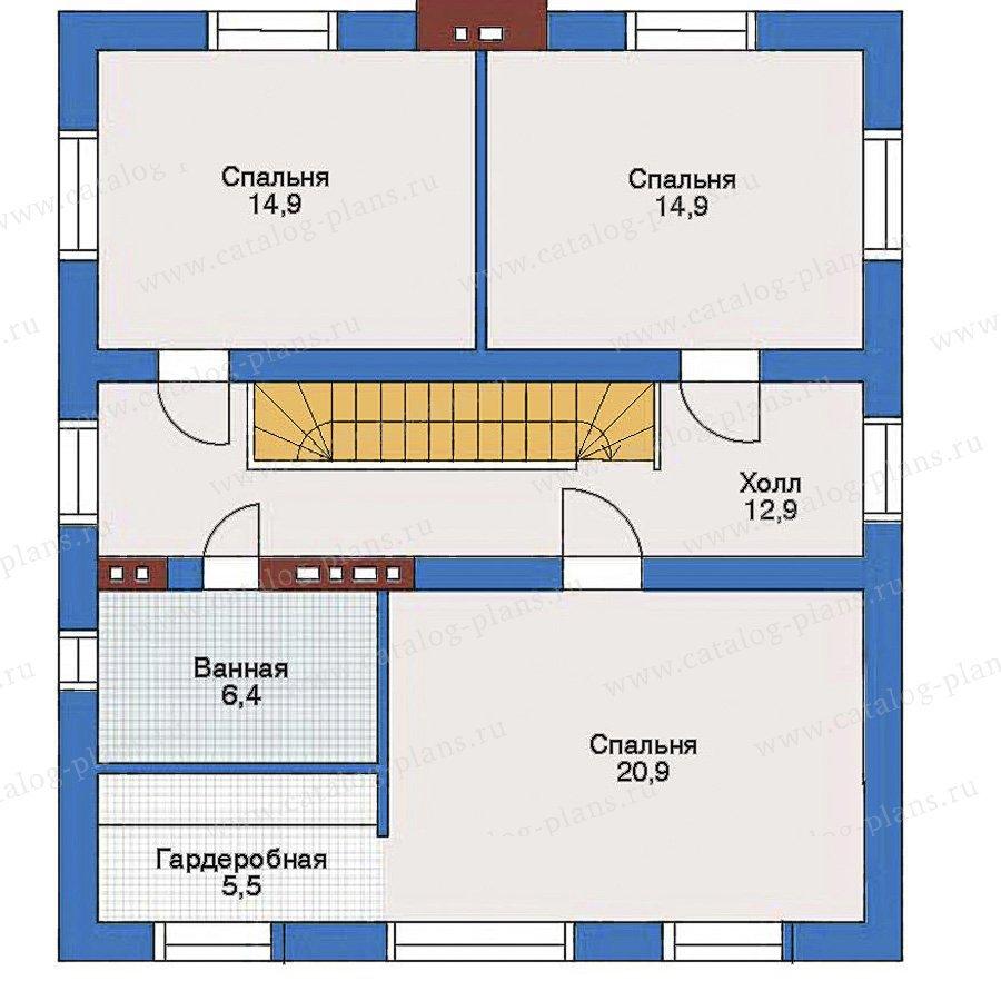 План 3-этажа проекта 34-61