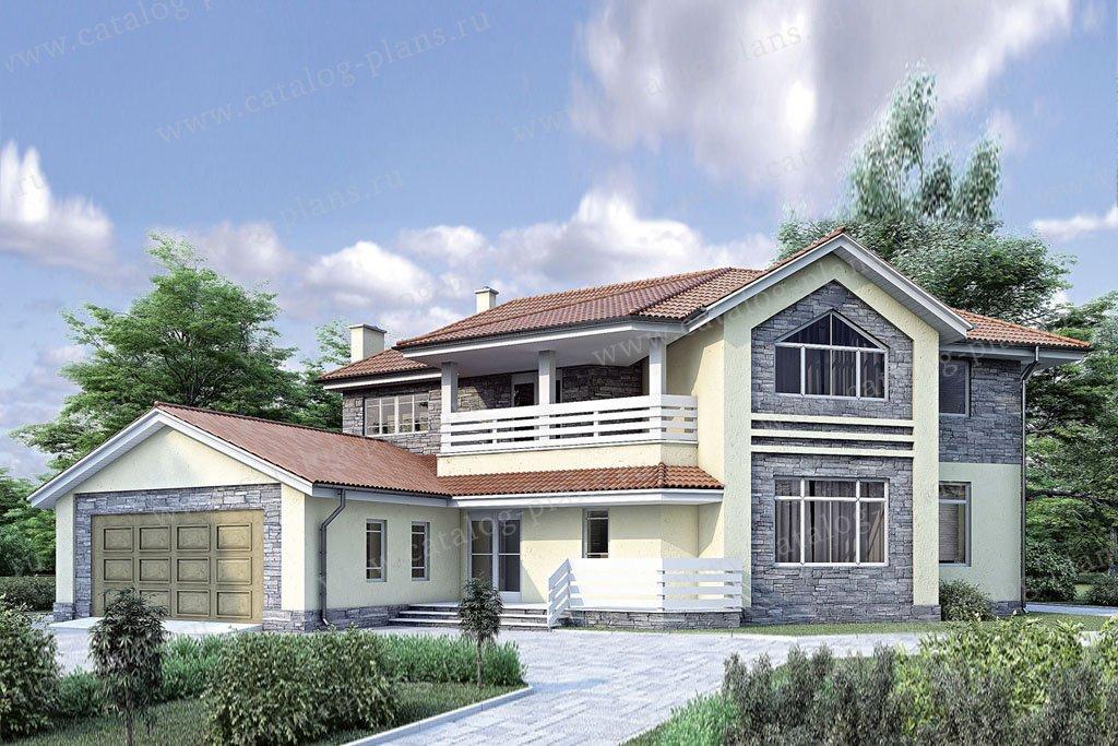 Проект жилой дом #34-75 материал - кирпич, стиль современный