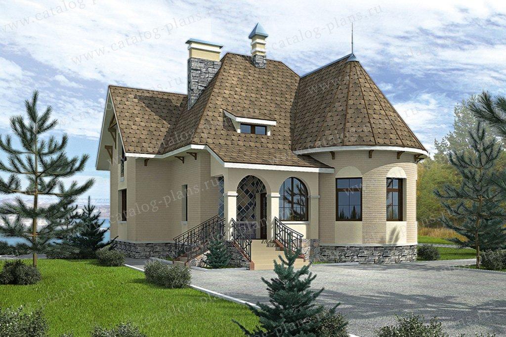 Проект жилой дом #34-45 материал - кирпич, стиль чешский