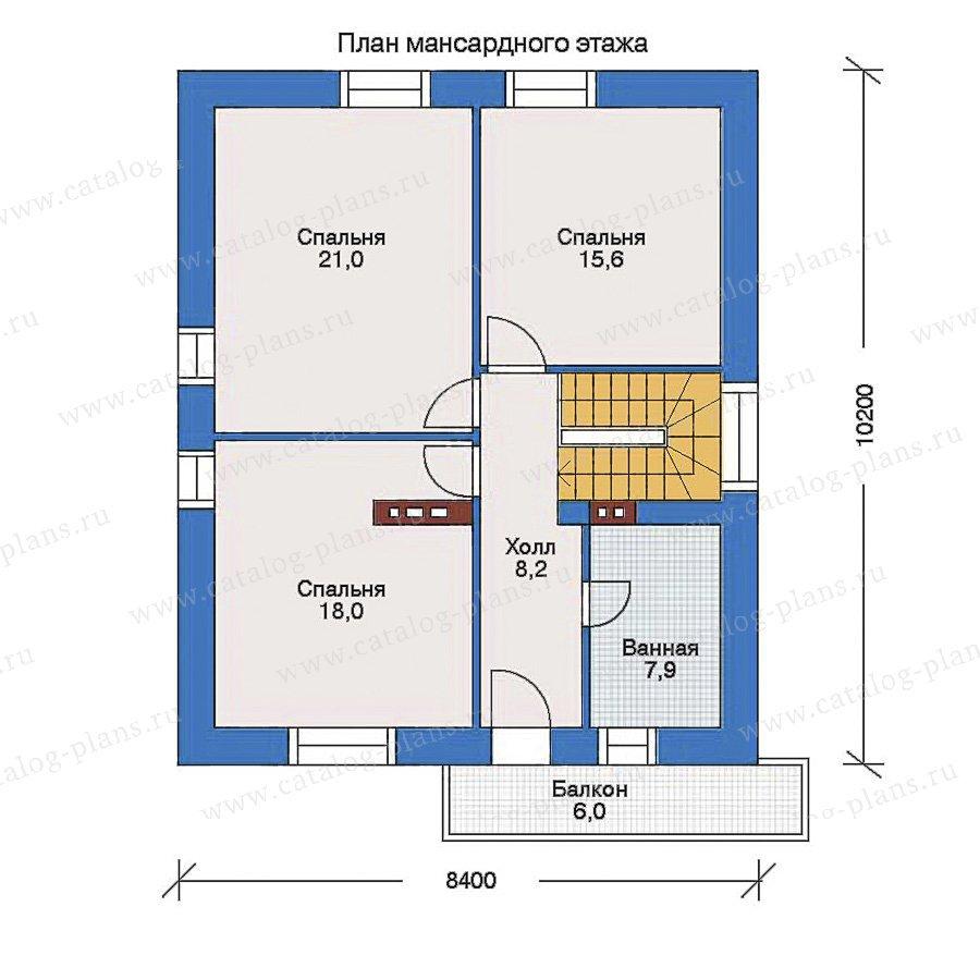 План 2-этажа проекта 34-59