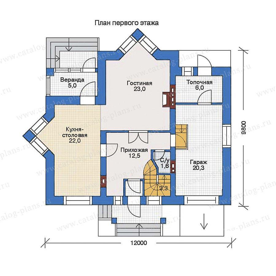 План 1-этажа проекта 34-83