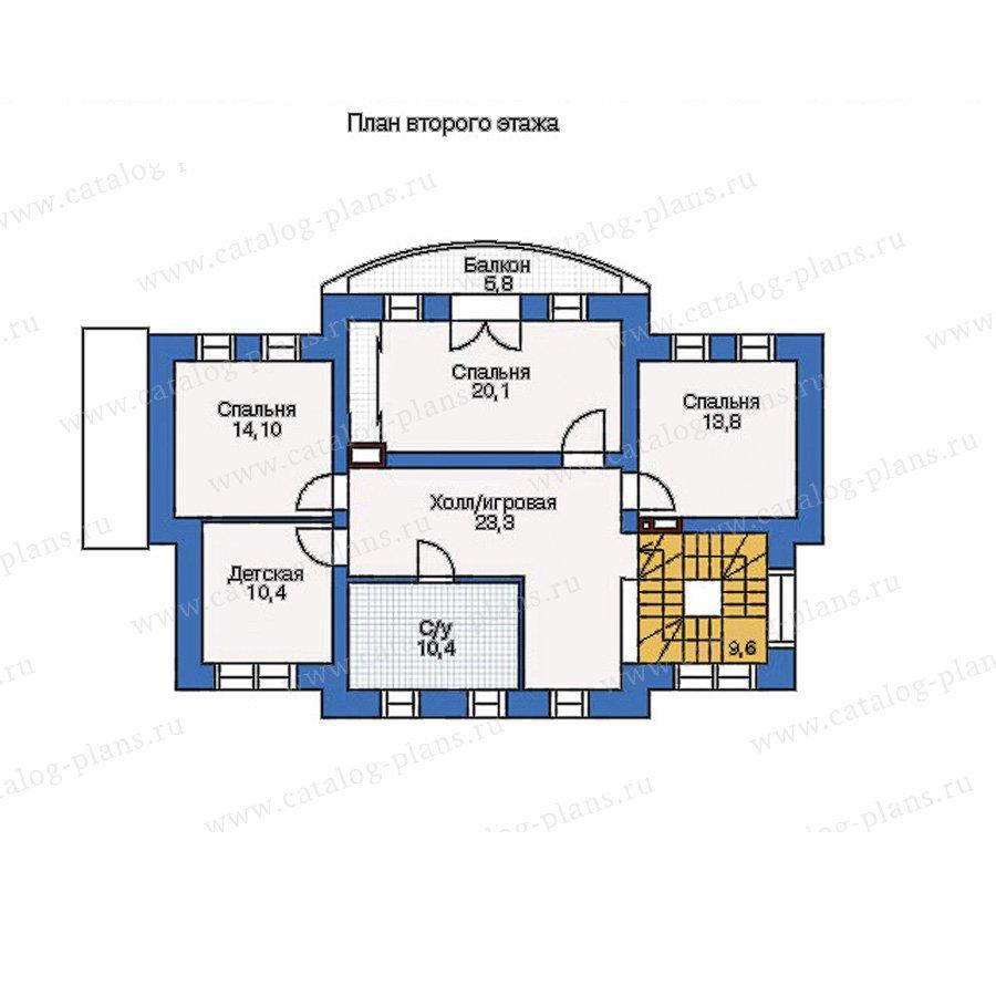 План 2-этажа проекта 34-76