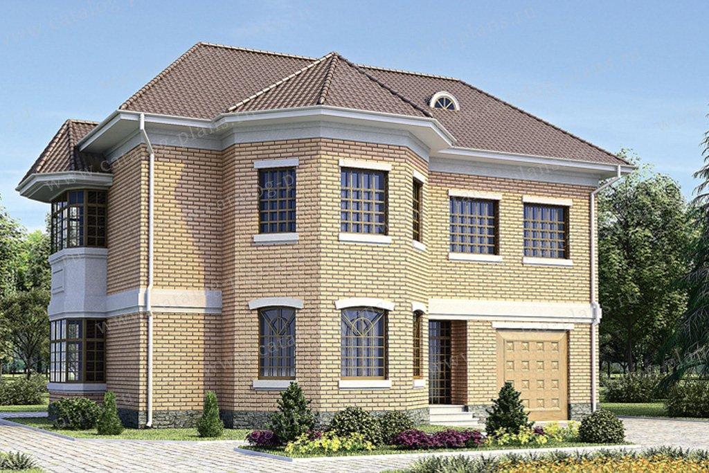 Проект жилой дом #34-38 материал - кирпич, стиль европейский