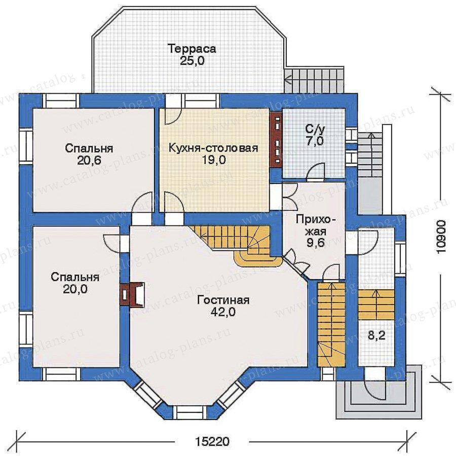 План 2-этажа проекта 34-86
