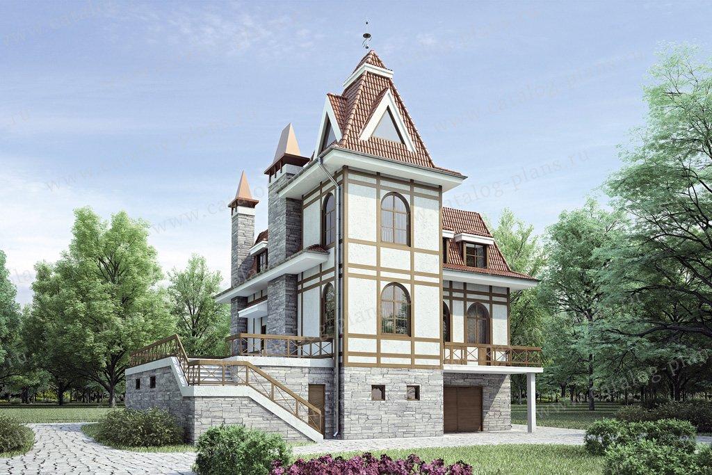 Проект жилой дом #34-84 материал - кирпич, стиль немецкий