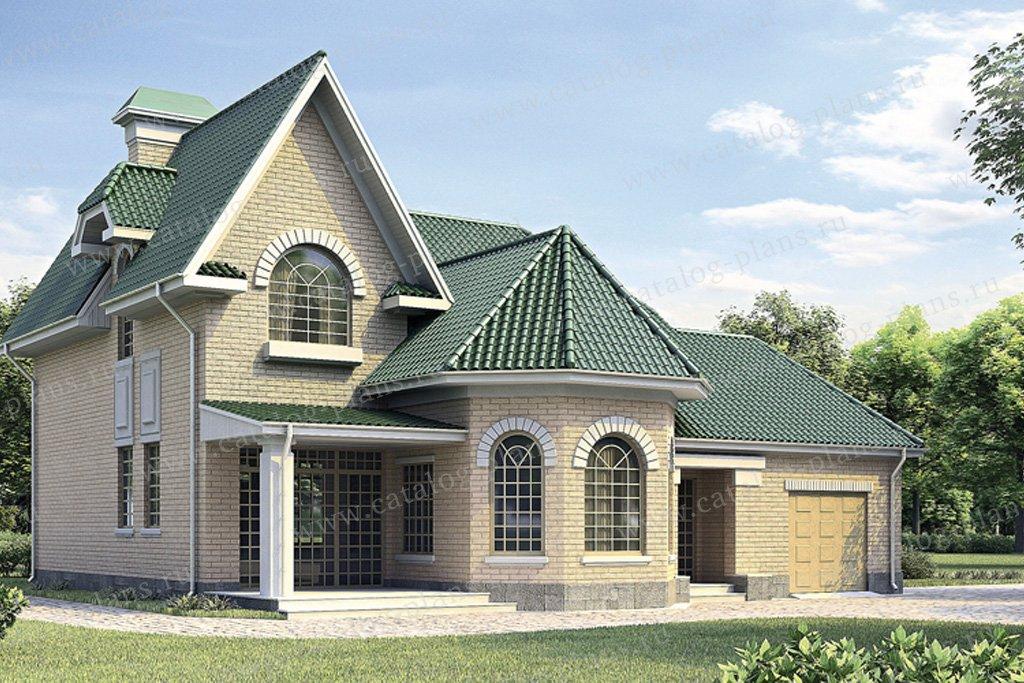 Проект жилой дом #34-35 материал - кирпич, стиль европейский