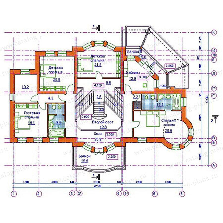 План 3-этажа проекта 34-16
