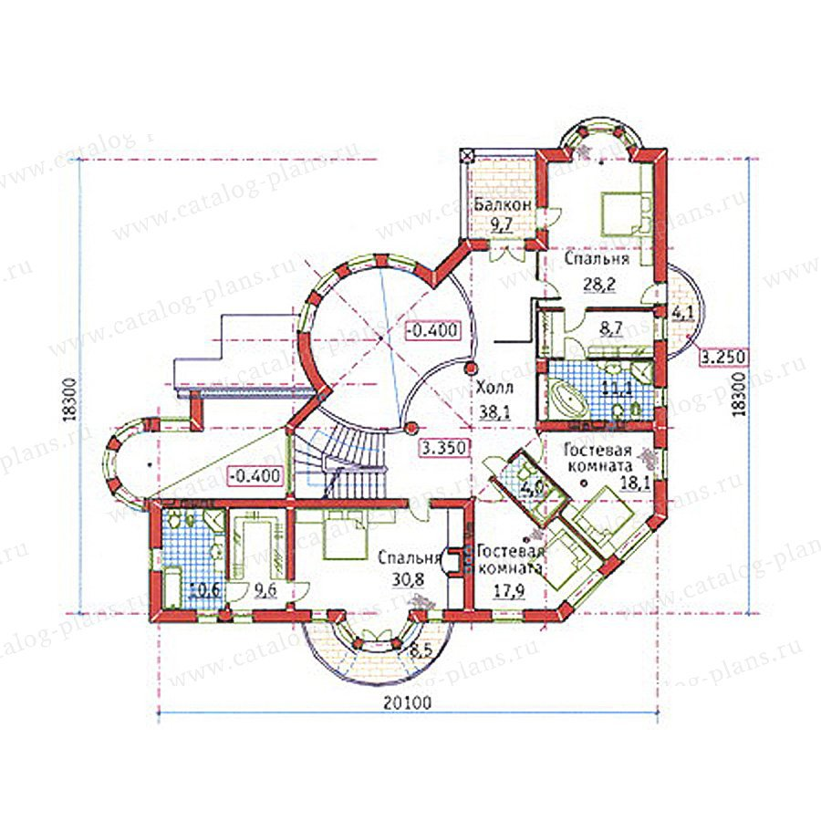 План 2-этажа проекта 34-18