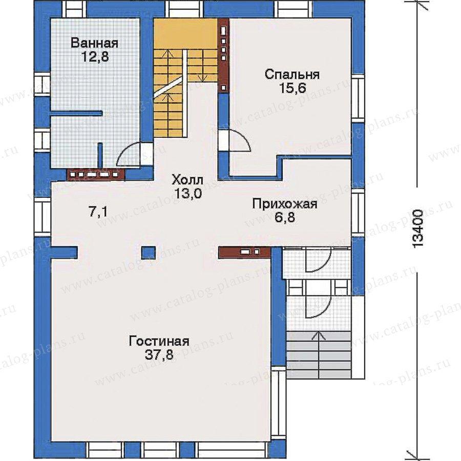 План 2-этажа проекта 34-85