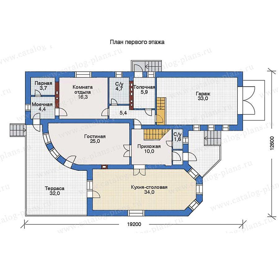 План 1-этажа проекта 34-87