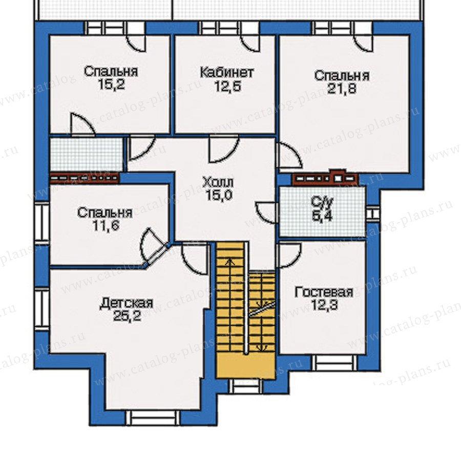 План 3-этажа проекта 34-73