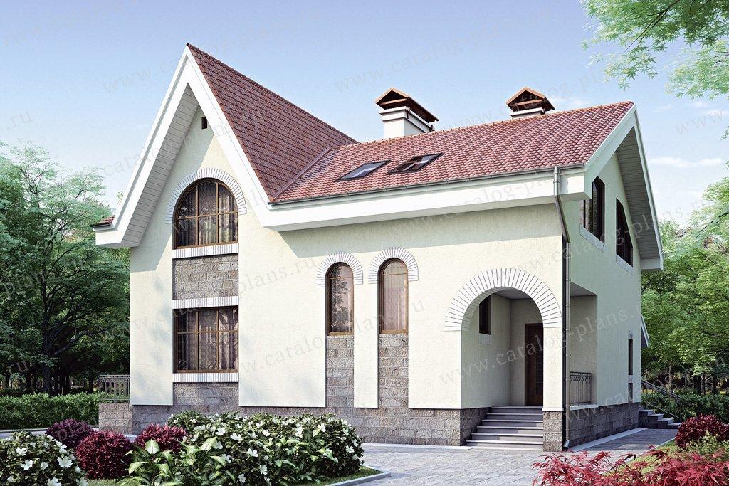 Проект жилой дом #34-92 материал - кирпич, стиль европейский