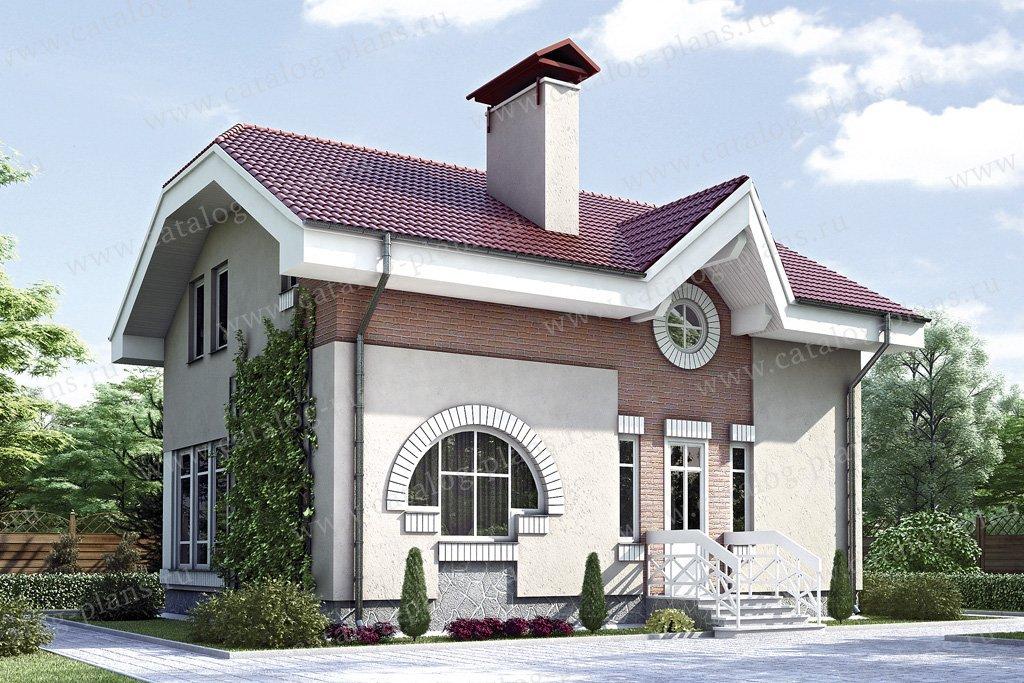 Проект жилой дом #34-58 материал - кирпич, стиль европейский