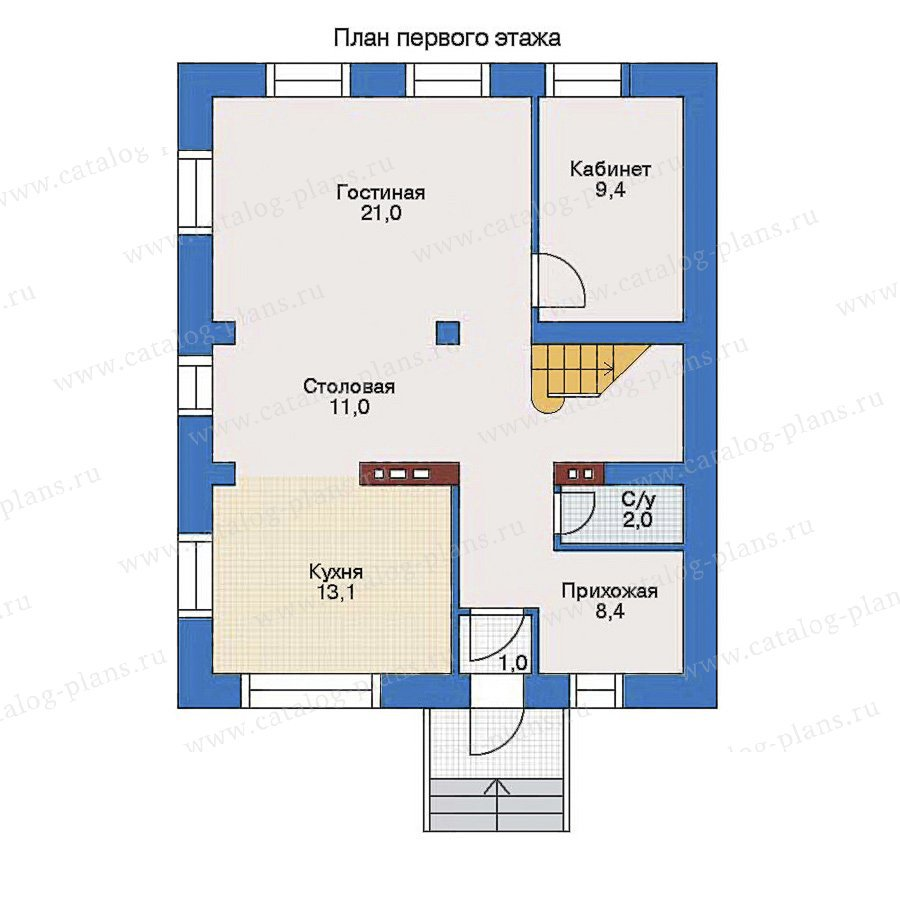 План 1-этажа проекта 34-59